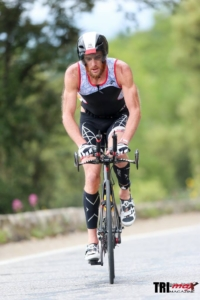 Cedric Lassonde on bike @ Ironman Nice