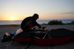 sunset on Myrtos beach