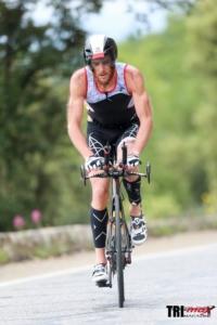 Cedric Lassonde on bike @ Ironman Nice