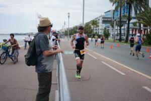 Cedric Lassonde running Ironman Nice